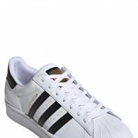 Mens Adidas Superstar Sneaker, Size 4 M - White