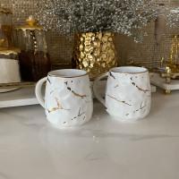 Metallic Gold Marble Print Mug