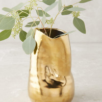 Goldshine Vase By Anthropologie in Gold