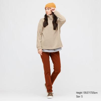 Stretch Fleece Turtleneck Pullover Shirt